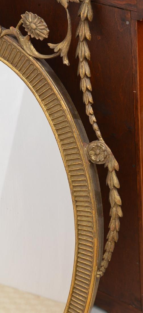 Adams style gilt wood wall mirror - 4