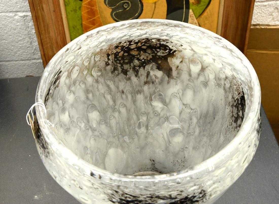 Large Steuben cluthra glass vase - 5
