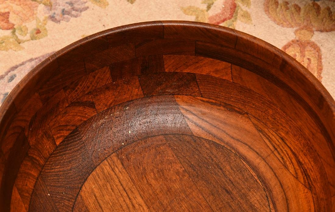 Collection (6) wooden serving bowls - 2