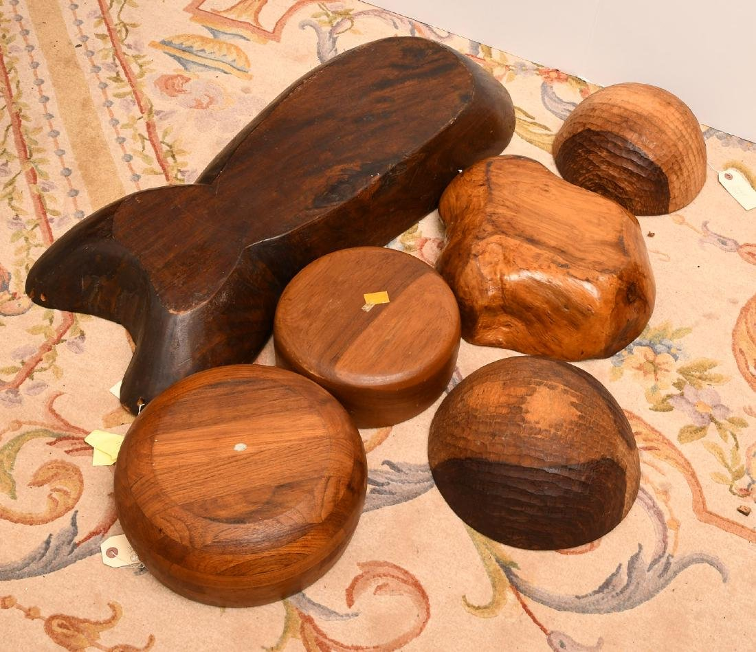 Collection (6) wooden serving bowls - 5
