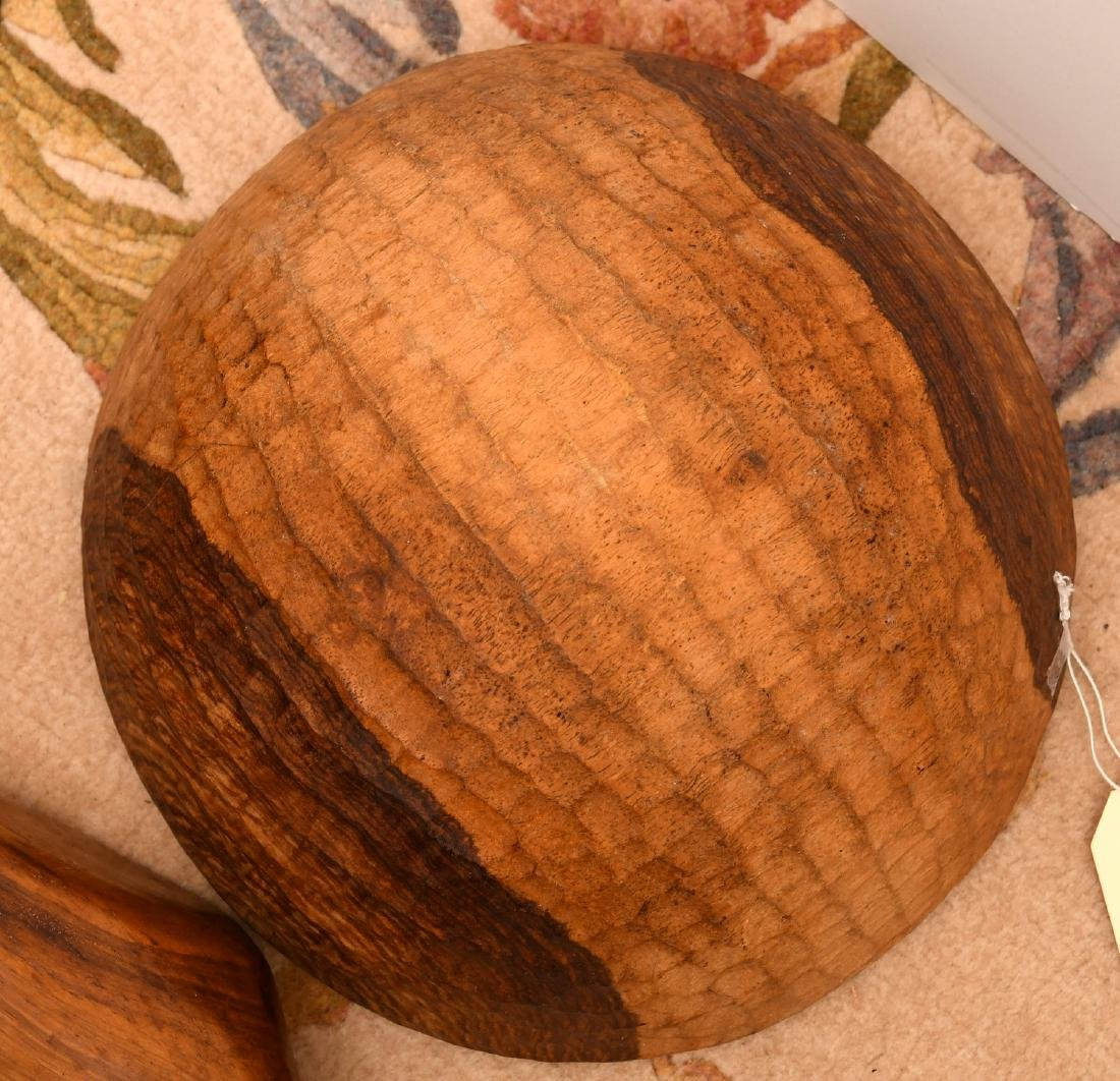 Collection (6) wooden serving bowls - 7