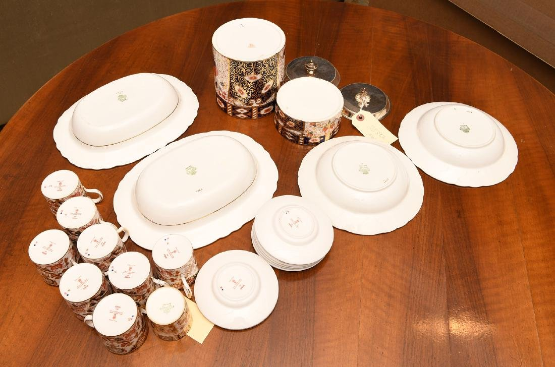 Derby, Davenport, & Aynsley Imari porcelains group - 8