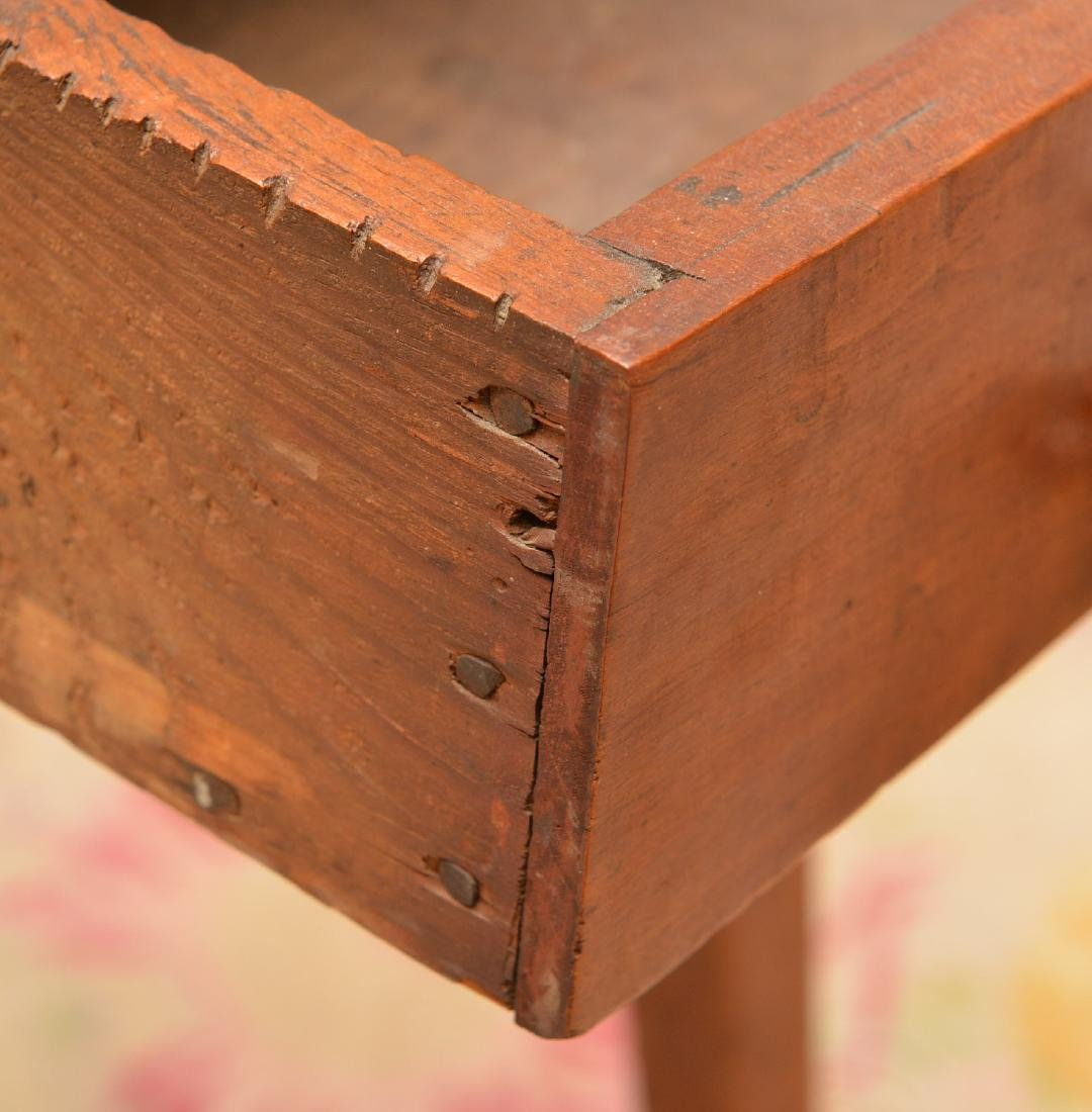 Antique Shaker style pine side table - 2
