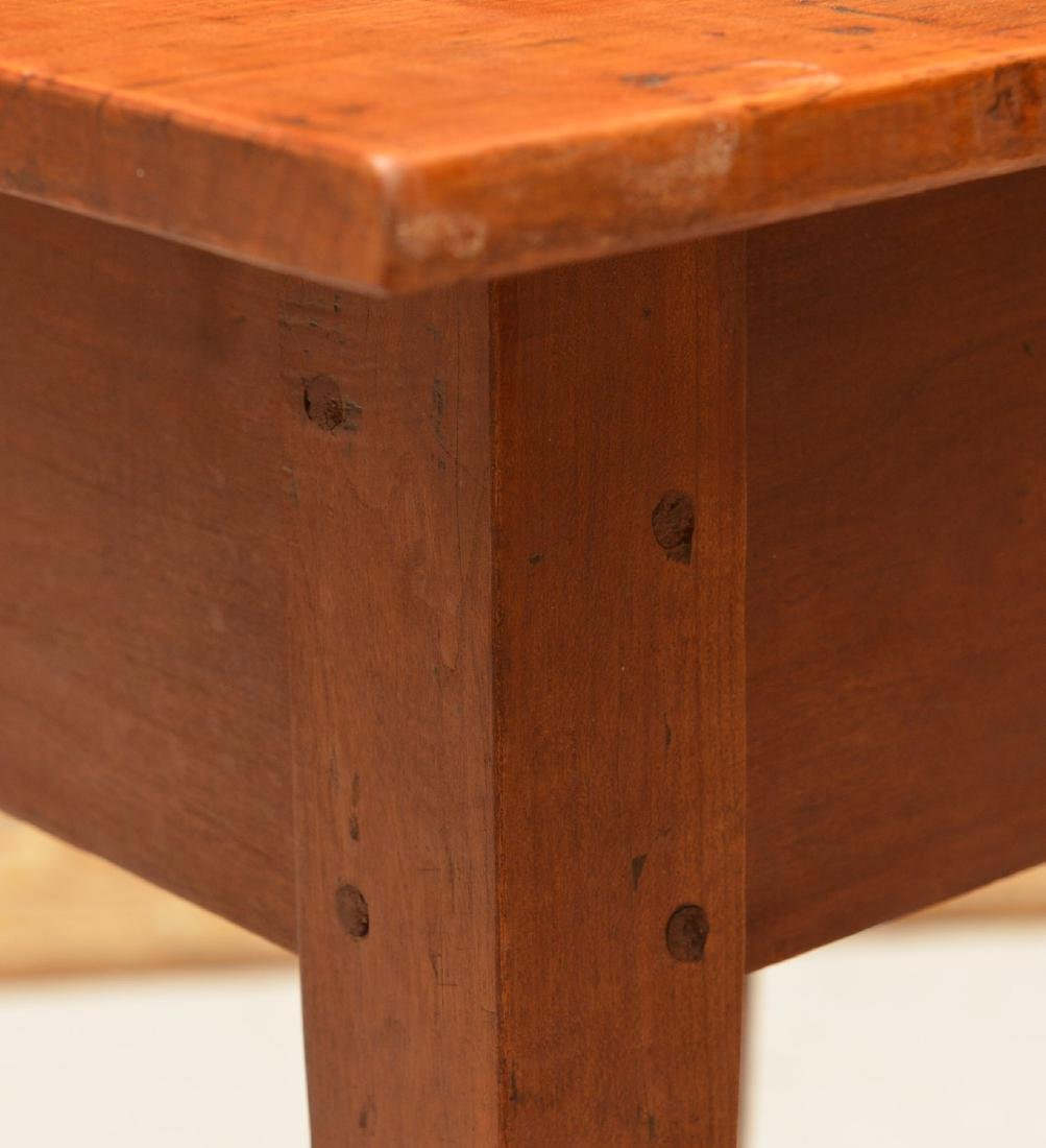 Antique Shaker style pine side table - 4