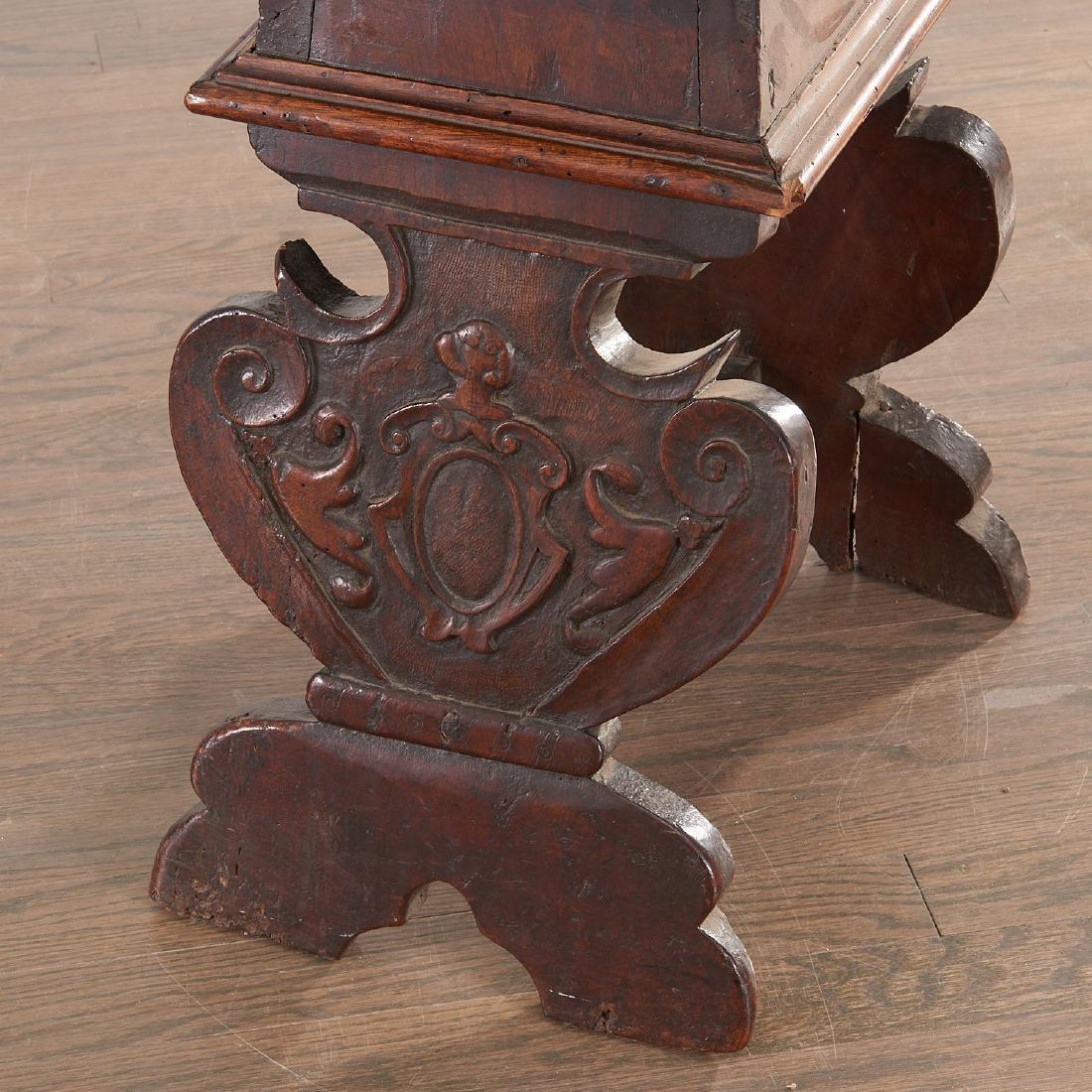 Pair Italian walnut Sgabello chairs - 4