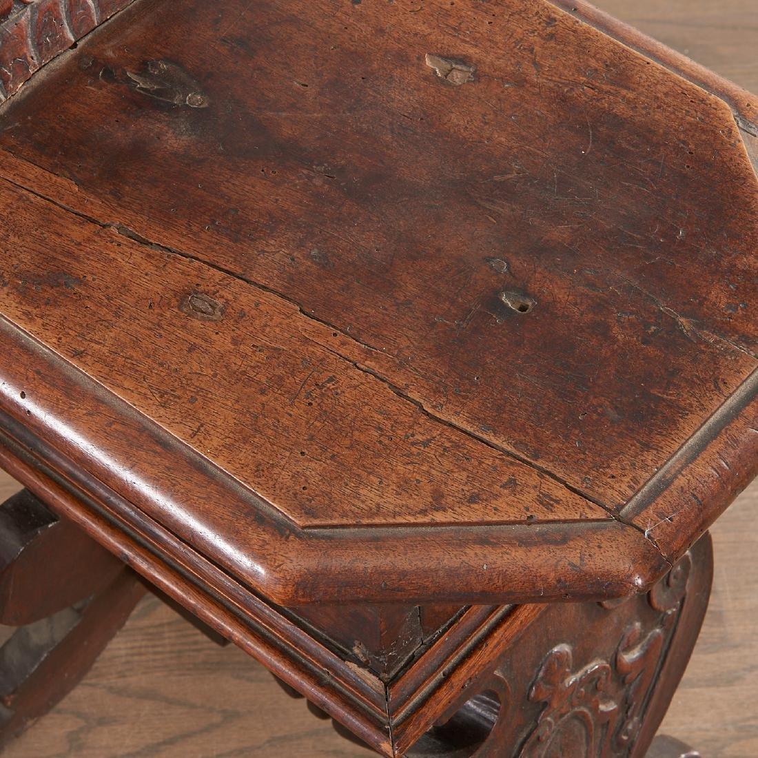 Pair Italian walnut Sgabello chairs - 6