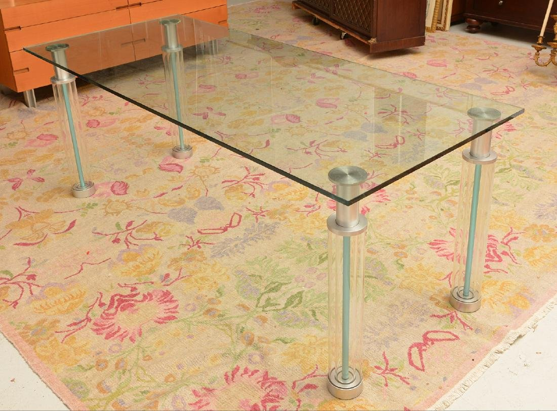 """Knoll """"Andre"""" style tubular dining table"""