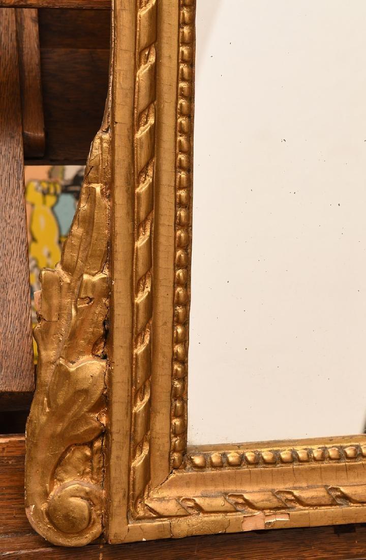 Louis XVI style giltwood wall mirror - 3