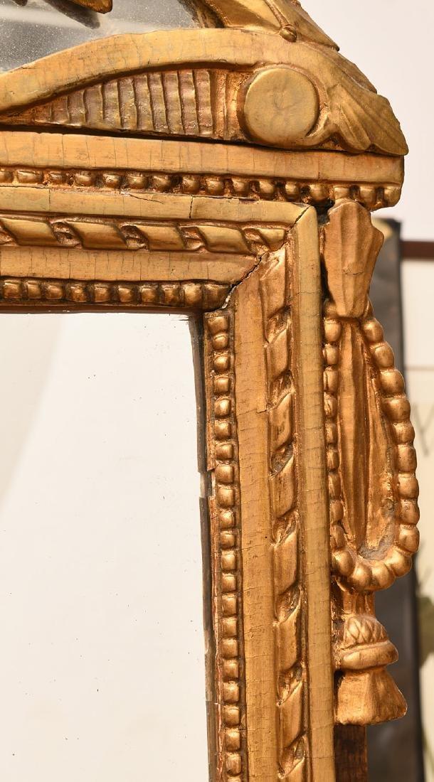 Louis XVI style giltwood wall mirror - 4
