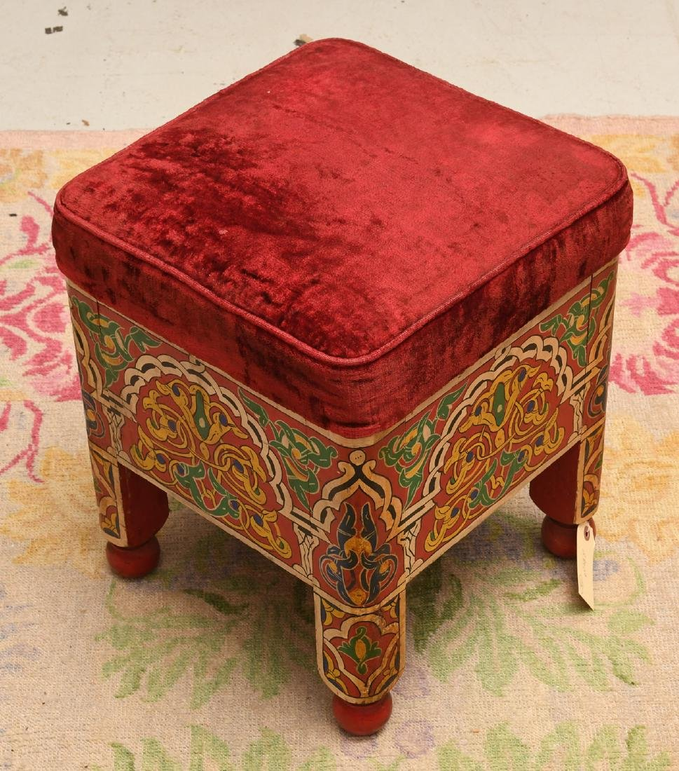 Moroccan hand painted stool