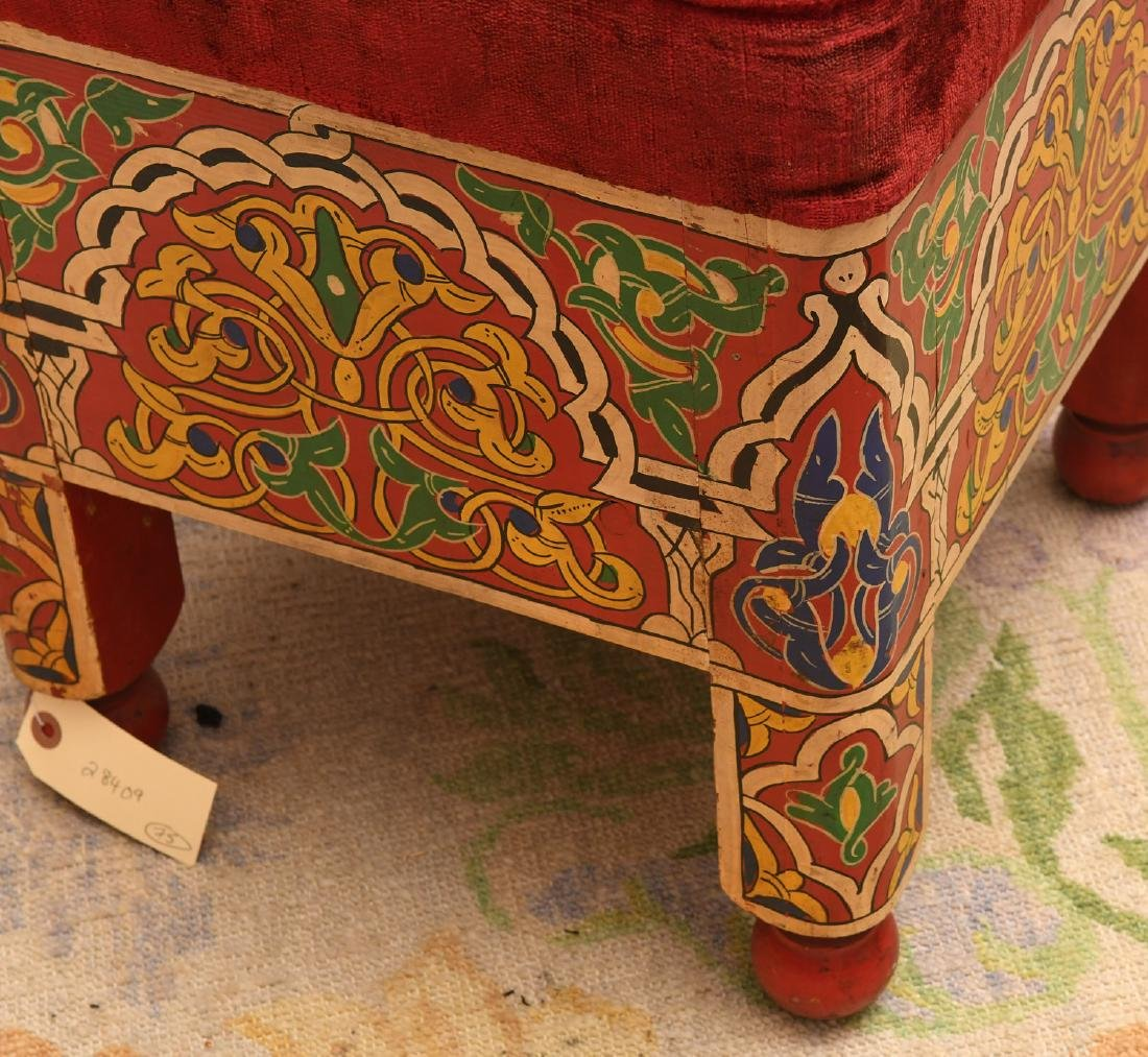 Moroccan hand painted stool - 2