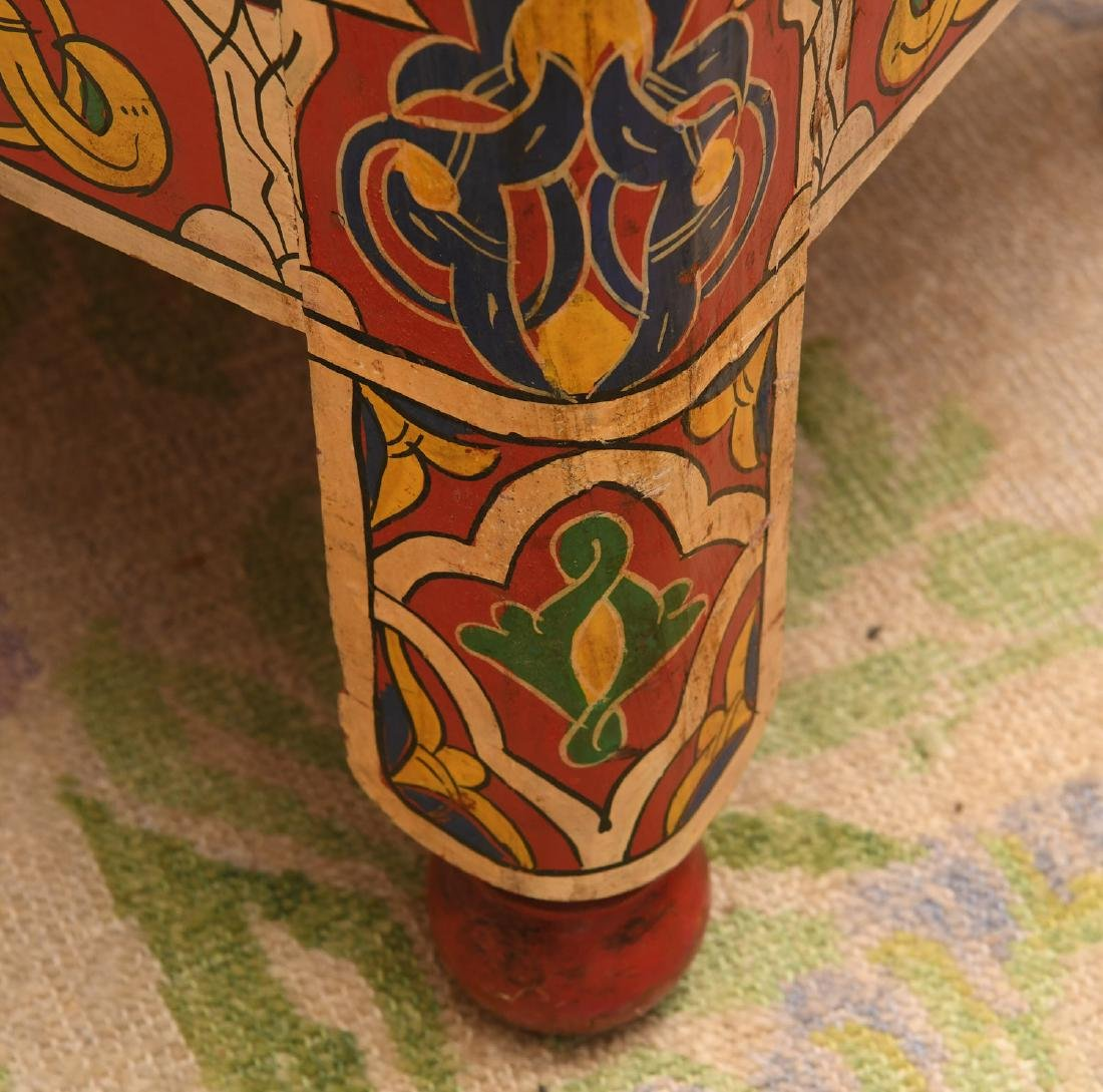 Moroccan hand painted stool - 3