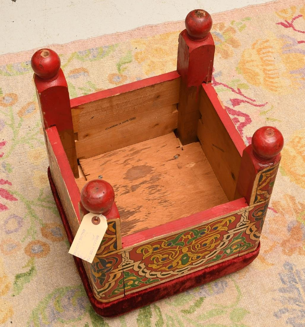 Moroccan hand painted stool - 4
