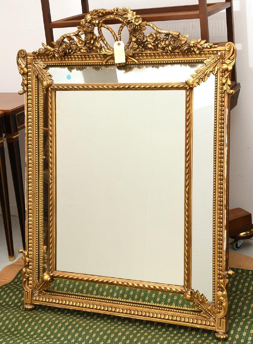 Paladio Italian giltwood and gesso wall mirror