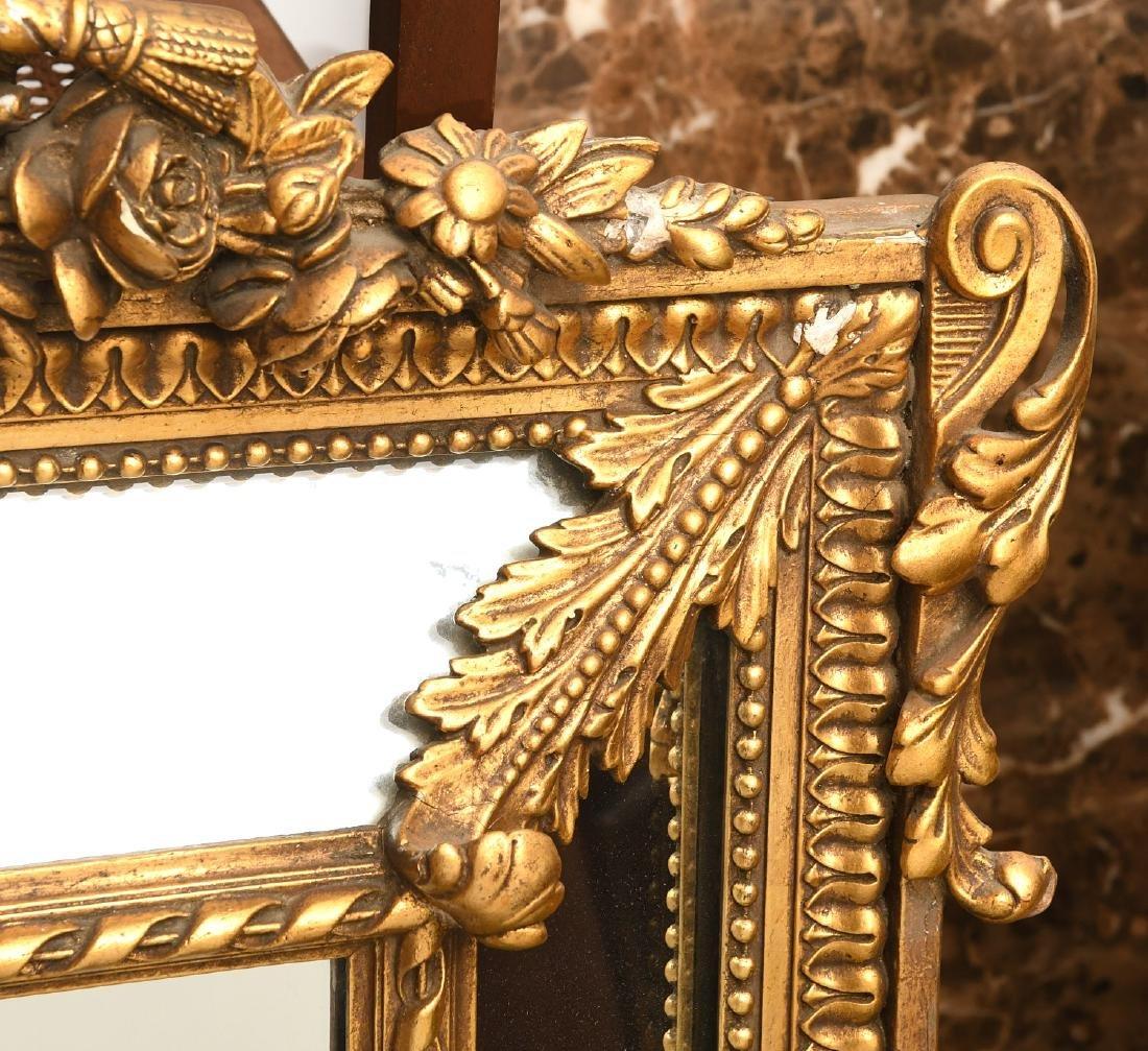 Paladio Italian giltwood and gesso wall mirror - 3