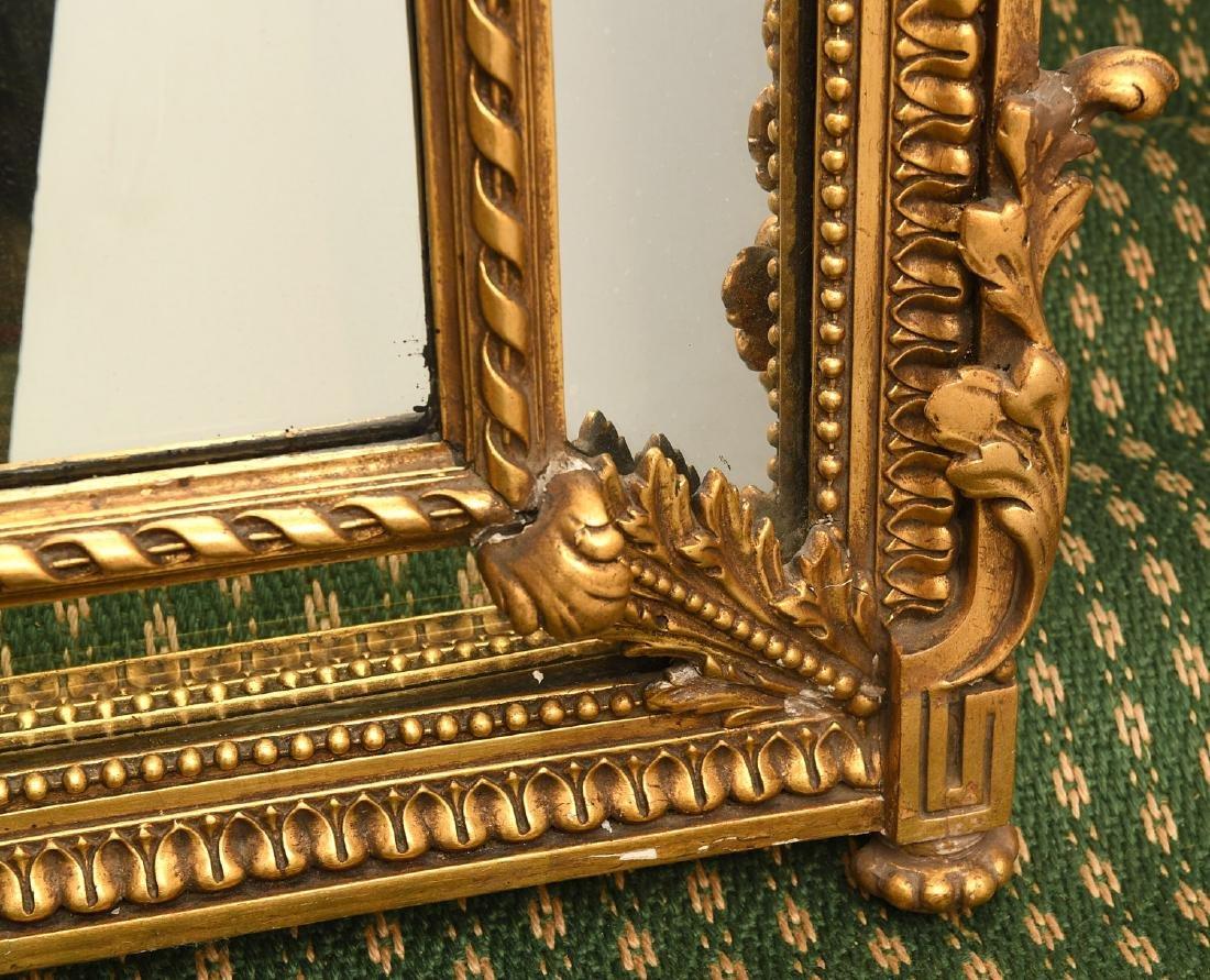 Paladio Italian giltwood and gesso wall mirror - 5