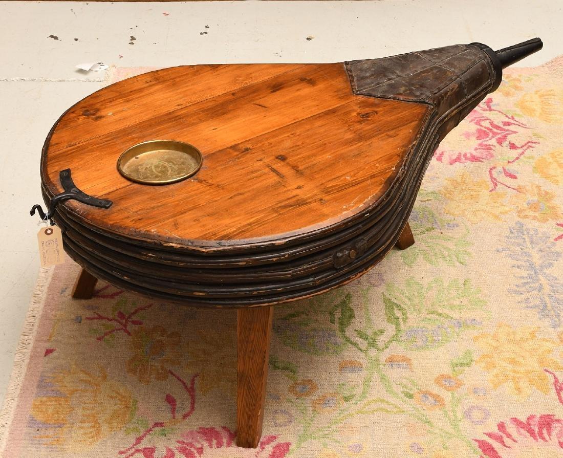 Blacksmith's bellows coffee table