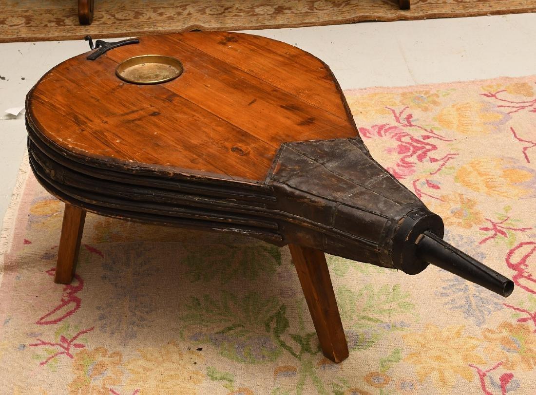 Blacksmith's bellows coffee table - 4