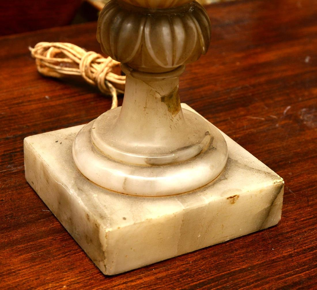 (5) Italian marble and alabaster table lamps - 3