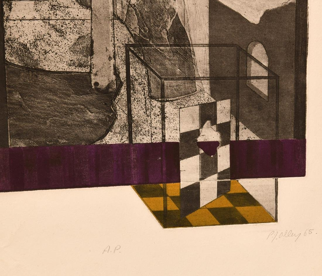 P.J. Alley, etching - 2
