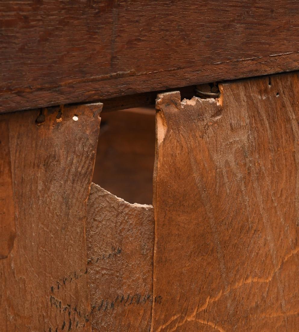Arts & Crafts oak bookcase cabinet - 5