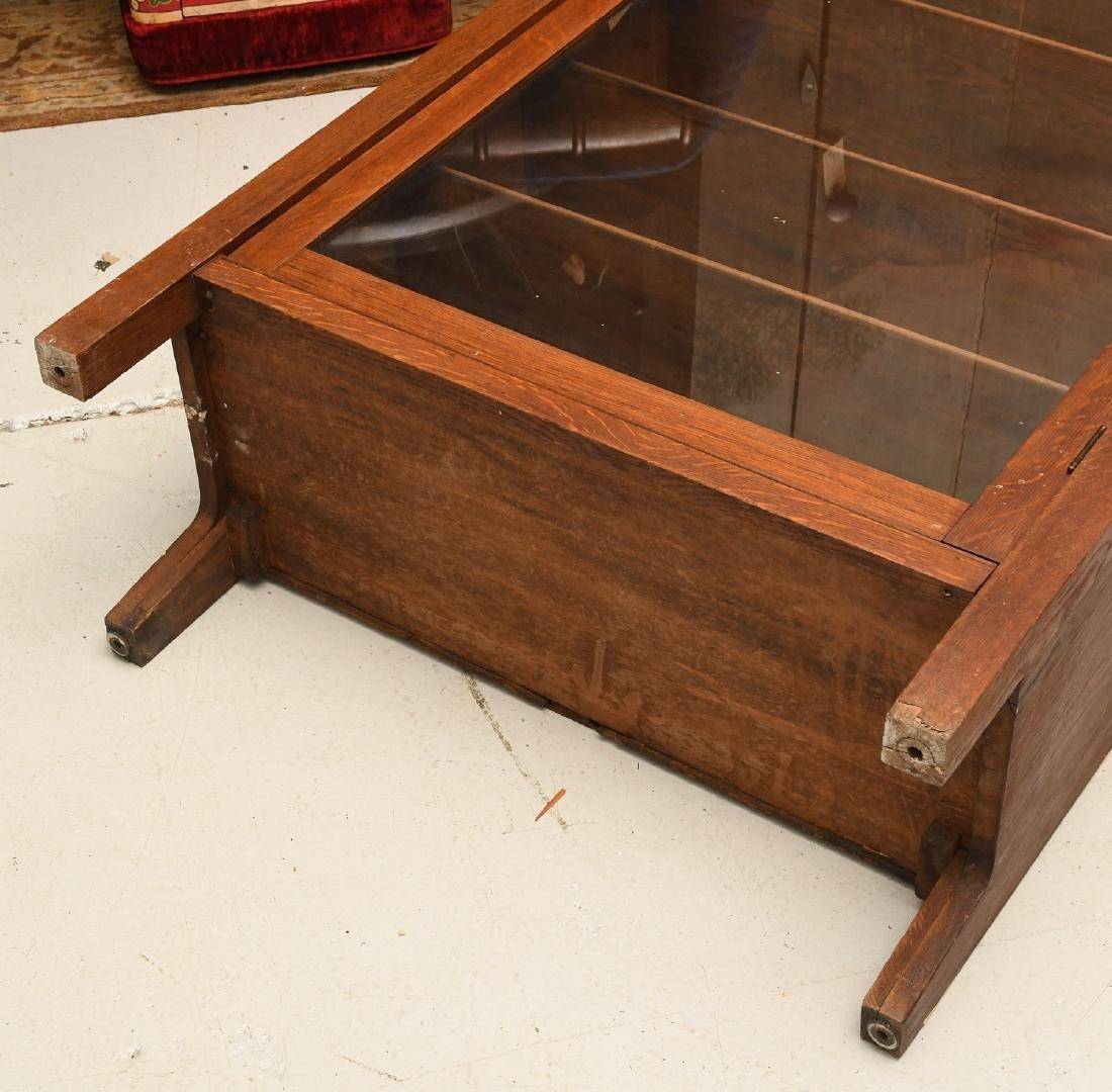 Arts & Crafts oak bookcase cabinet - 6