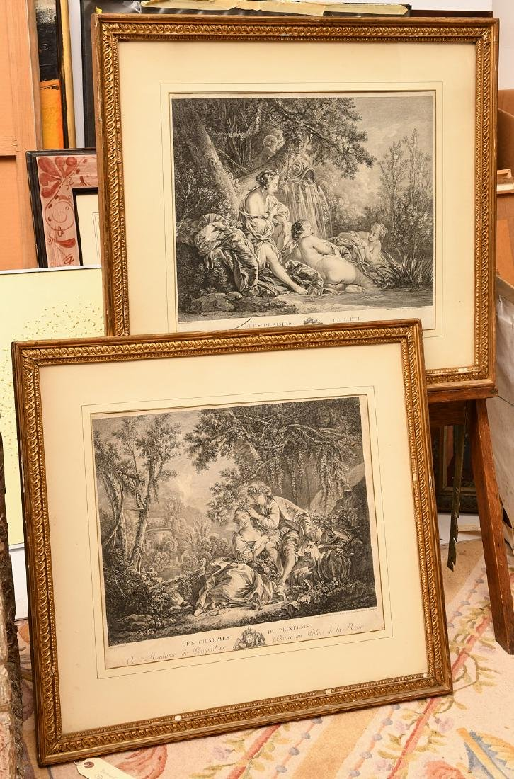 After Boucher, (2) engravings