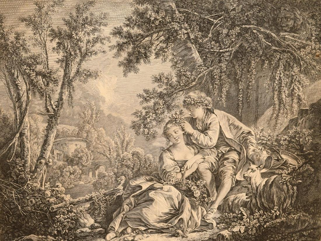 After Boucher, (2) engravings - 2