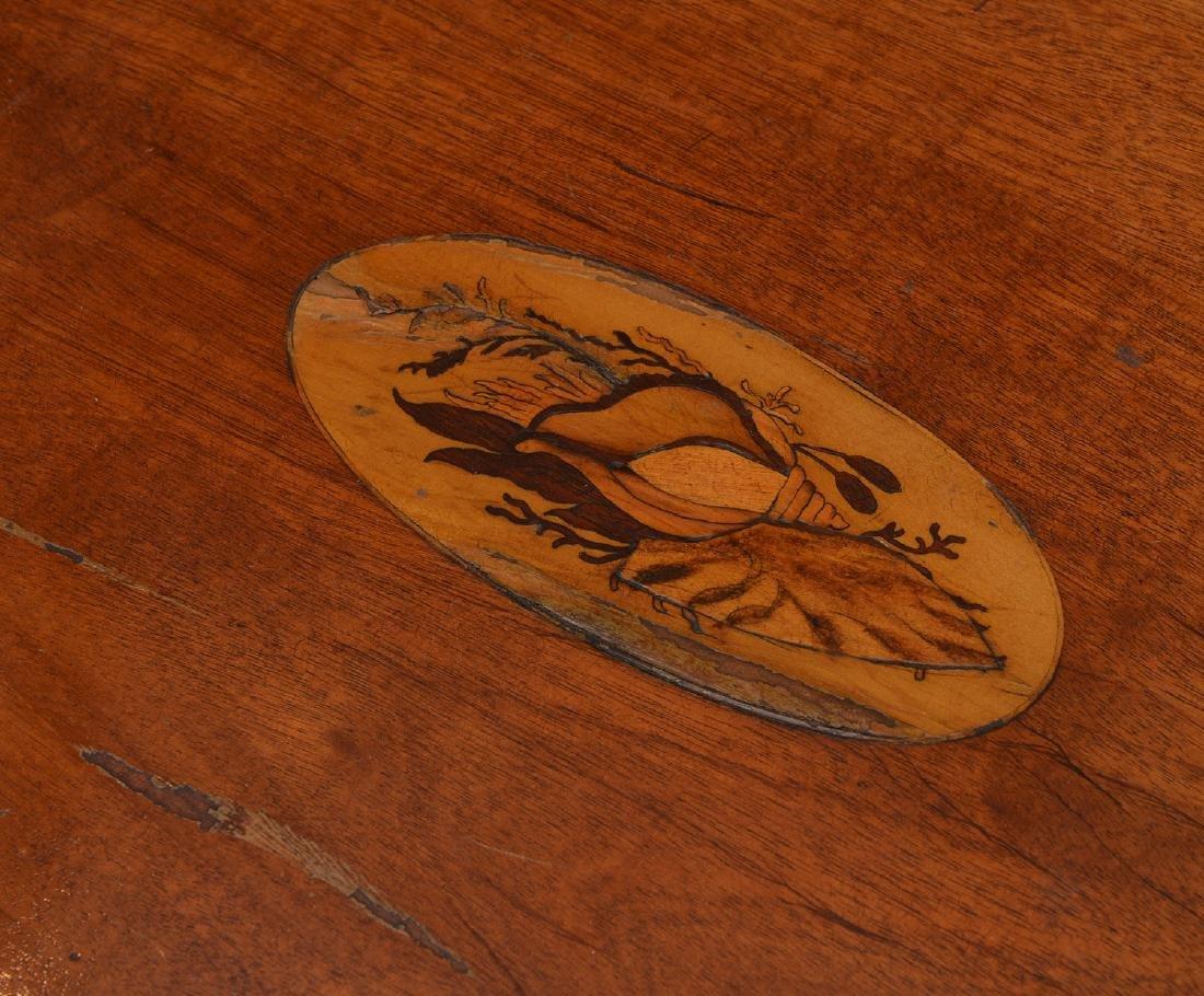 Antique mahogany inlaid games table - 4