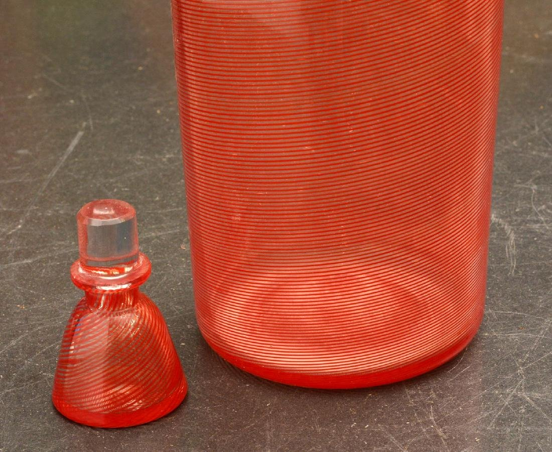 Venini glass bowl and bottle with stopper - 4