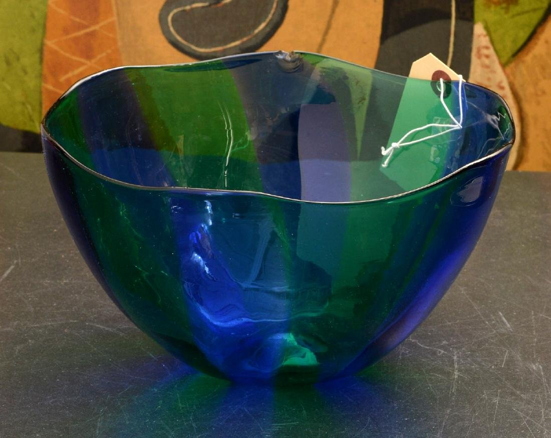 Venini glass bowl and bottle with stopper - 5