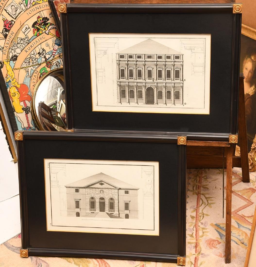 (2) Architectural prints of Palladian villas
