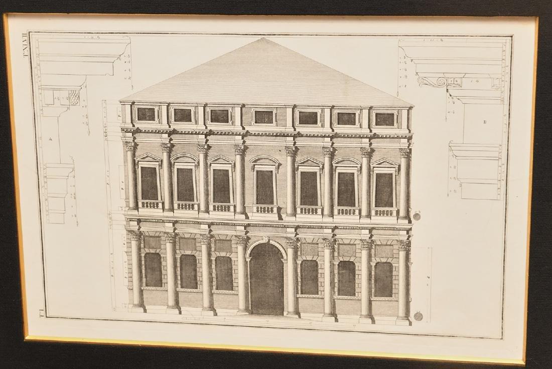 (2) Architectural prints of Palladian villas - 2