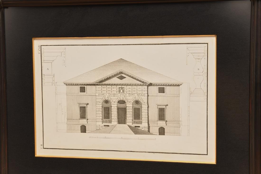 (2) Architectural prints of Palladian villas - 3