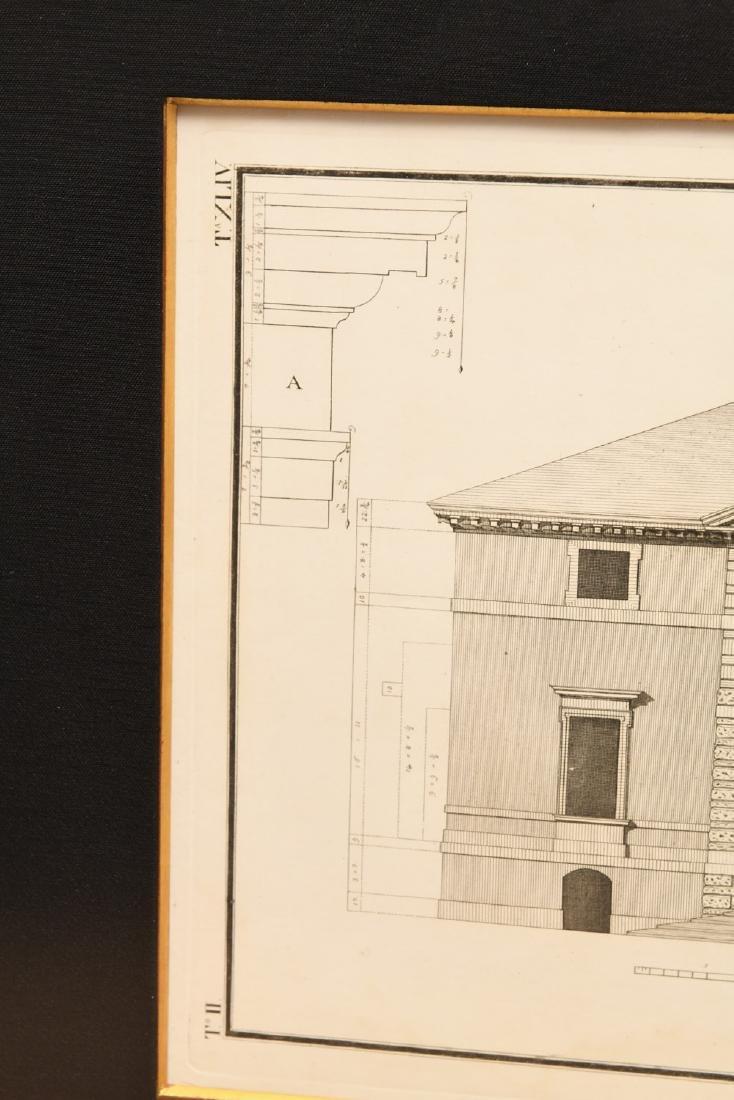 (2) Architectural prints of Palladian villas - 6