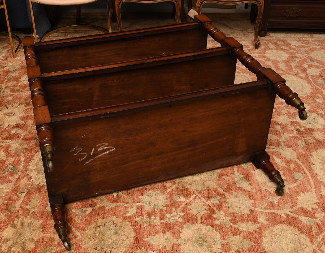 Sheraton style mahogany serving trolley - 5