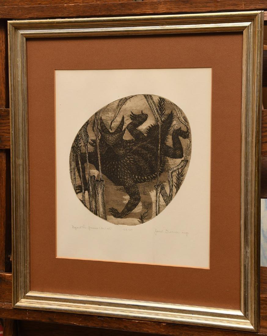 Janet Elizabeth Turner, etching