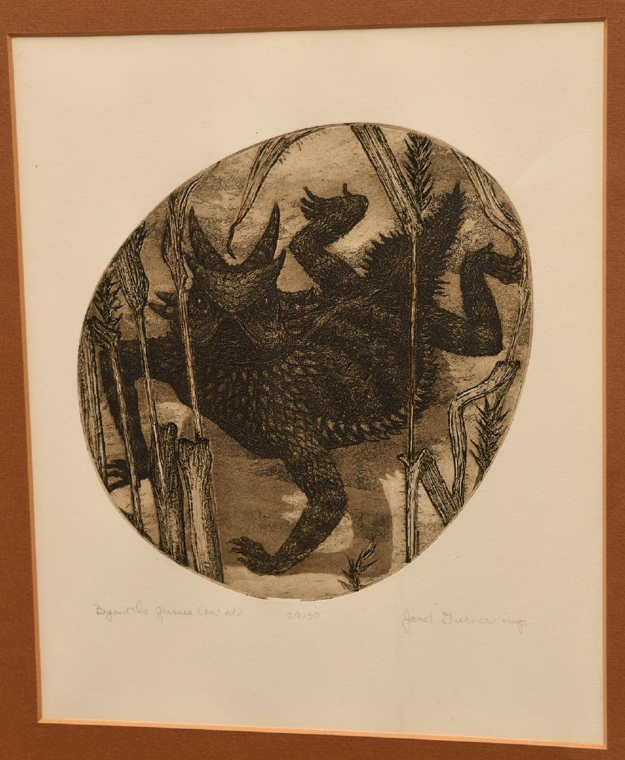 Janet Elizabeth Turner, etching - 2