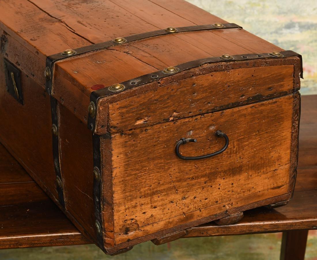 Metal bound wooden chest - 2
