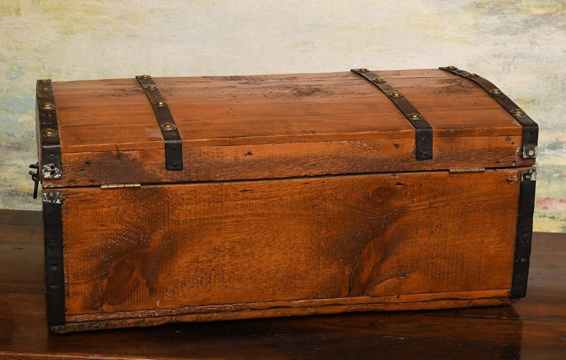 Metal bound wooden chest - 3