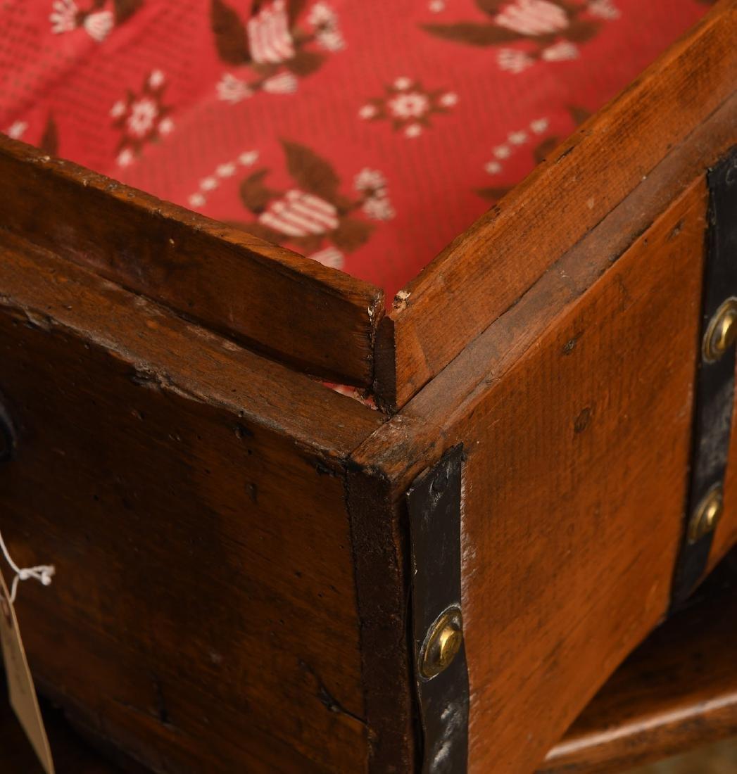 Metal bound wooden chest - 6