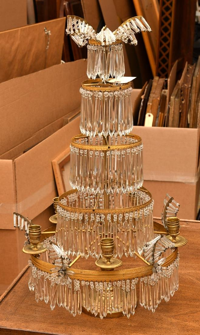 Baltic Neo-classical style bronze candelabrum