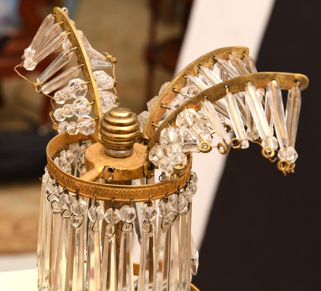 Baltic Neo-classical style bronze candelabrum - 8
