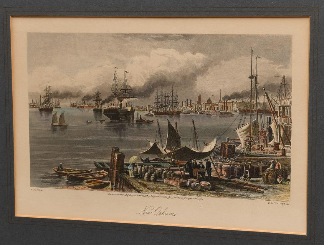 New Orleans, colored engraving - 2