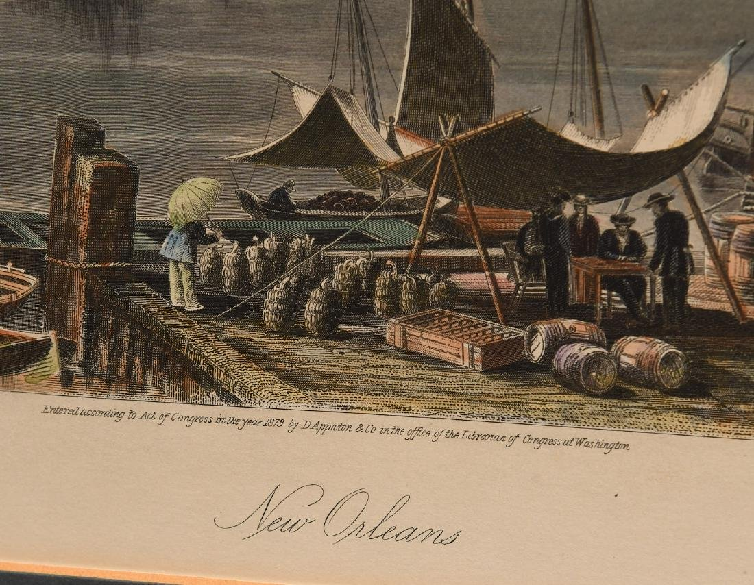 New Orleans, colored engraving - 3
