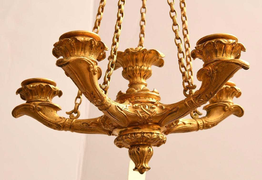 Louis Philippe gilt bronze petit chandelier - 2