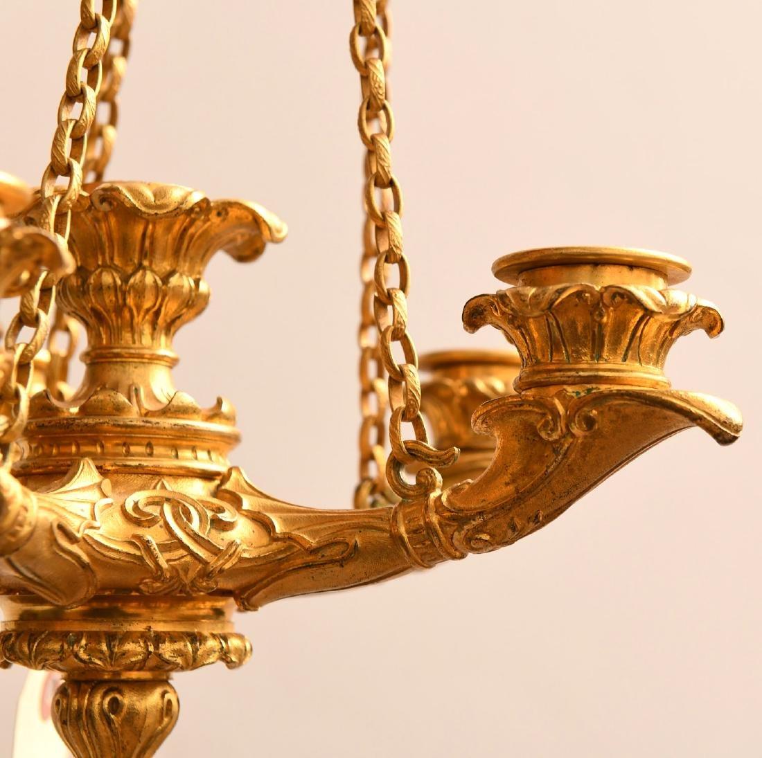 Louis Philippe gilt bronze petit chandelier - 3
