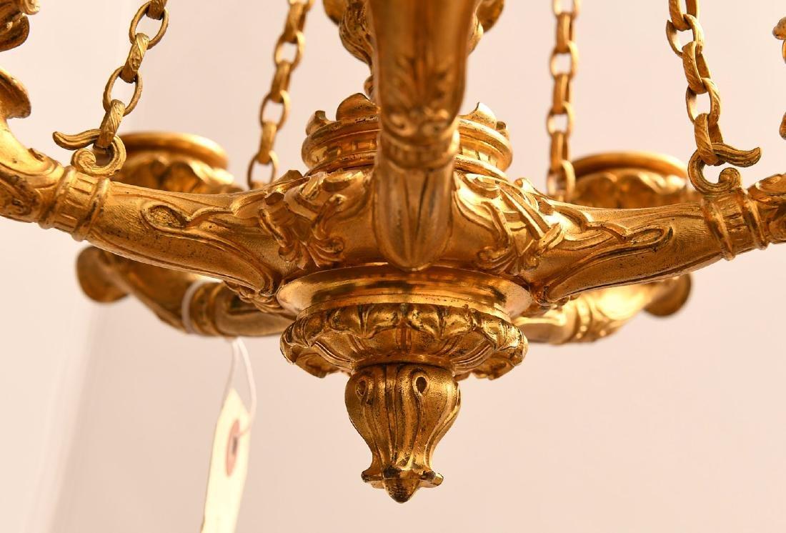 Louis Philippe gilt bronze petit chandelier - 5