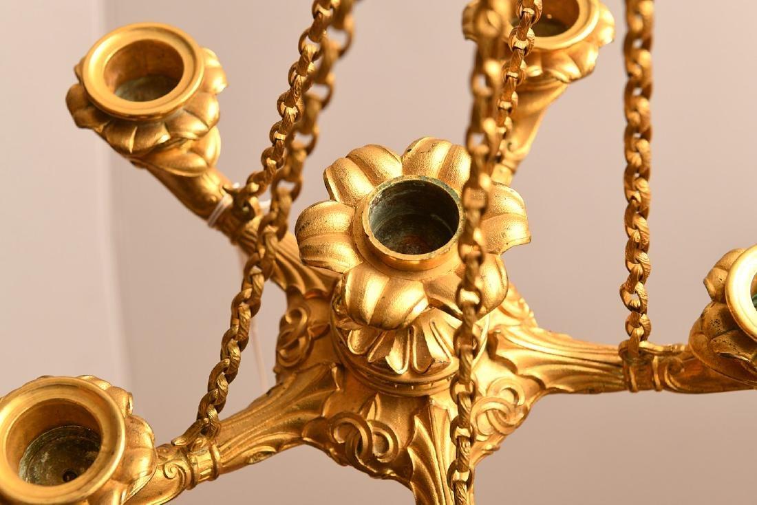 Louis Philippe gilt bronze petit chandelier - 6