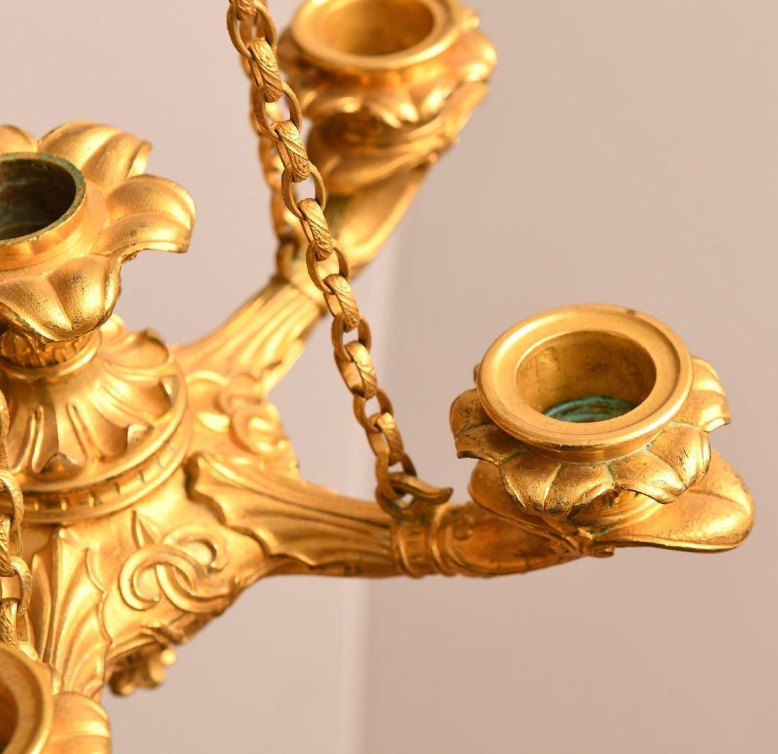 Louis Philippe gilt bronze petit chandelier - 7